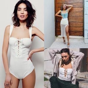 Worn once free people white philo bodysuit